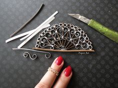 Wrought iron design paper miniature handmade By Gül ipek