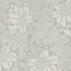 Acanthus | Tapetväljaren Damask Wallpaper, Pattern Designs, Acanthus, William Morris, Bathrooms, Fabrics, Collage, Wallpapers, Watercolor