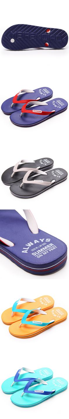 2017 New Fashion Brand Flip Flop Slippers Men Summer Breathable Soft Flat Beach Shoes Europe and The American Trend Slippers