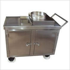 Refrigeration Stainless Steel Food Trolley With Drawer online India from Indian vendors at RollingLogs. This food trolley are developed by using fine quality raw material and superior technology. Food Trolley, Hotel Kitchen, Kitchen Equipment, Commercial Kitchen, Furniture Collection, Refrigerator, Drawers, Raw Material, Stainless Steel