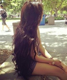 wavy long hair- my goal is to grow out my hair this length! ;D