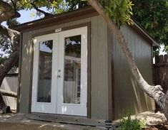 Storage Shed Construction. Shed OfficeBackyard OfficeHome ...