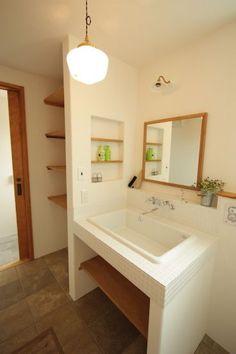F-Brooklyn & Natural House - 内装 - Bathroom Toilets, Washroom, My Home Design, House Design, Greek Decor, Wooden House, Japanese House, Bathroom Interior Design, Bathroom Inspiration