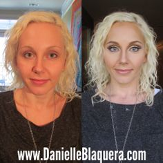 before and after makeup brows highlight and contour