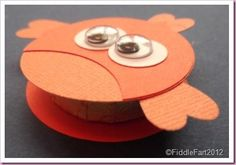 uses a heart punch for fins, and a circle punch Punch Art Cards, Paper Punch, Craft Punches, Peppermint Patties, Elizabeth Shaw, Thing 1, Circle Punch, Treat Holder, Paper Cards