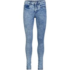 ONLY Royal Regular Acid Skinny Fit Jeans ($31) ❤ liked on Polyvore featuring jeans, pantalon, light blue denim, only jeans, blue skinny jeans, blue jeans, skinny leg jeans and zipper skinny jeans