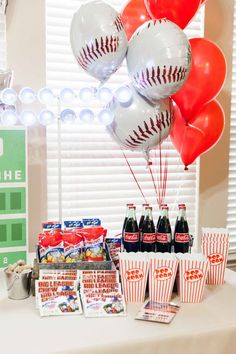 Birthday Baseball Party Baseball Game … – Fashion Of Game Day Baseball Theme Birthday, Boys First Birthday Party Ideas, Sports Birthday, 1st Boy Birthday, Boy Birthday Parties, Sports Party, Theme Parties, Nfl Sports, Birthday Cakes