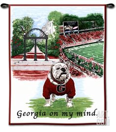University of Georgia Bulldog, Georgia on My Mind Wall Tapestry at Art.com
