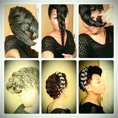 I LOVE Box Braids ! — mydamncurls: Box braid styles