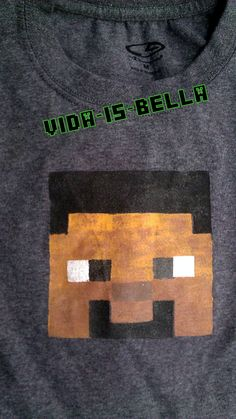 Minecraft Steve Head Tee Shirt
