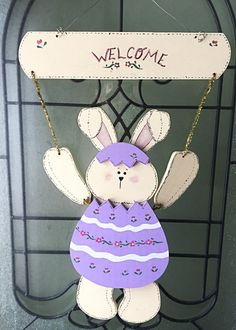 Happy Easter Door Sign  Happy Easter Sign  by CherishedCottage