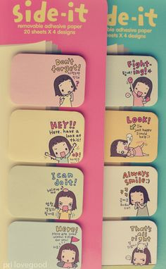 Cute post-it notes.