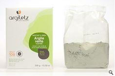 Grön lera, Pulver, För oljig hud, 300g
