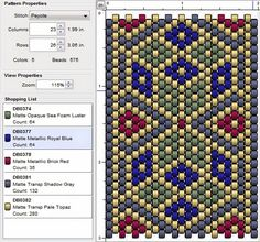 imaginesque free beading patterns by francis Peyote Beading Patterns, Peyote Stitch Patterns, Seed Bead Patterns, Loom Beading, Jewelry Patterns, Weaving Patterns, Embroidery Patterns, Beaded Banners, Bead Loom Bracelets