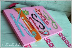 Personalized Custom Hand Painted Bow Holder -compliments Petite Paisley Bedding