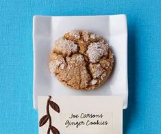 "Ginger Cookies- The Silver Dollar City bakery near Branson, Missouri, pulls as many as 40 dozen of these from the oven each day during the Christmas season. The recipe came from baker Joe Carson who said, ""Sometimes they don't even have time to cool before they're gone!"""