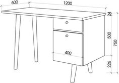 Office Table And Chairs, Office Table Design, Furniture Plans, Furniture Design, File Cabinet Desk, Bathroom Plans, Dressing Table Mirror, Wood Display, Table Dimensions