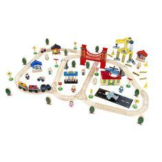 120 Piece City Toy Train Set, Indigo (cyber Monday), Toys, Train Sets