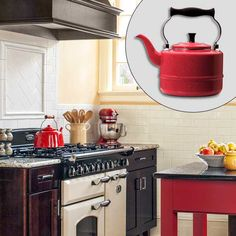 Great stove. I have missed cooking on it...  Photo: Deborah Whitlaw Llewellyn | thisoldhouse.com | from Create an English Cottage Kitchen