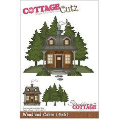 CottageCutz 4x6 Woodland Cabin Die