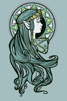 Zelda Nouveau by khallion.deviantart.com on @DeviantArt