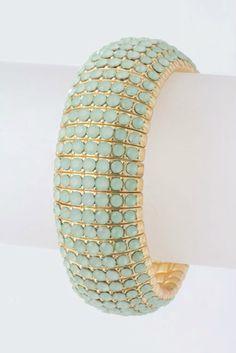 Ice blue stretchable bracelet, perfect for summer on Splenderosa.com