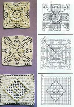 granny squares patterns....the middle one is my fave!