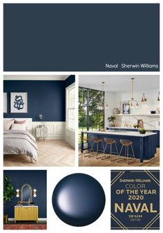 We're highlighting all of the paint manufacturer's 2020 Colors of the Year with lots of room inspiration and ways to use these forecasted paint colors. room ideas paint colors 2020 Colors of the Year Bedroom Wall Colors, Paint Colors For Living Room, Paint Colors For Home, House Colors, Paints For Home, Kitchen Paint Colours, Paint Colors For Office, Blue Dining Room Paint, Colors For Bedrooms