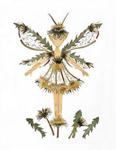 Sprite - impression Fine Art Giclee Fantasy 8 x 10 de fleurs magique « pissenlit Faery »