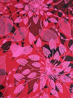 Fabric Length 0.5 m Silk - Waterlily Design by Eva Nganjmirra