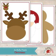 Busy Little Bugs Christmas Activity pack playdough mats