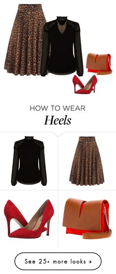 """Lady in leopard!"" by lollahs on Polyvore featuring Warehouse, BCBGeneration, Jil Sander and Ettika"