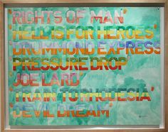 Available for sale from Michael Gibson Gallery, Greg Curnoe, New Order Watercolour, Pencil on Paper, 44 × 58 in Michael Gibson, Writings, Word Art, Artsy, Words, Paper, Wall, Artwork, Painting