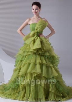 Sweep Lace Up Ruffled Bow Strapless Tulle Sleeveless Ball Gown Quinceanera Dresses