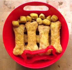 Doggy biscuits!  For dogs that don't do wheat, substitute quinoa or other non-wheat flour such as garbanzo bean!