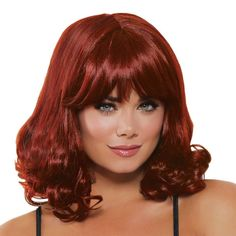 When you don't want to commit to a new perminant hair style, this is the perfect wig for you. Mid-Length Curly wig. This wig comes in many colors and is easy to maintain. Care Instructions: Hand wash, air dry. Do not use product on this hair to help maintain its luster. Gender: female. Age Group: adult. Find a lot of Awesome Medium Haircuts at Barbarianstyle.net #beauty #midhaircut #hairstyle # haircut #mediumcut Lindsay Lohan Hair, Hair Products Online, Long Hair Wedding Styles, Halloween Wigs, Auburn Hair, Auburn Brown, Medium Hair Cuts, Curly Wigs, Hairstyles With Bangs