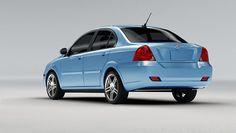 Coda blue sedan model