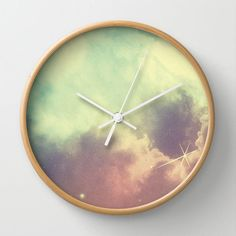 Nebula 3 wall clock by ThoughtCloud