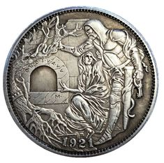 US$ 39.98 - Hand Carved Coins - m.sheinv.com Rare Coins Worth Money, Valuable Coins, Custom Coins, Hawaiian Party Decorations, Cool Gadgets To Buy, Coin Design, Hobo Nickel, Coin Worth, Hobo Style