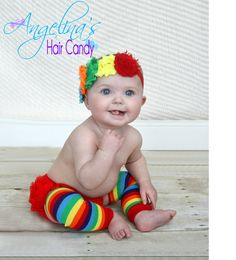 Rainbow Brite headbandCake smash outfit by AngelinasHairCandy, $25.75