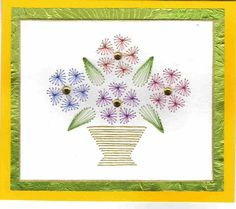 Card embroidery