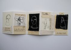 this happy thought  a mixed media artist book  by cathycullis