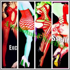 4 Sets-Bundle RED XS-4XL sexy fishnet body stocking NEW stocking lingerie#MC008 #Daisland #WomanBodystockingBodyStockingsSexyLingerie