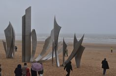 Normandy. Les Braves is a war memorial that is located on the shores of Omaha Beach in the village of  St. Laurent-sur-Mer  in Normandy, France and commemorates the fallen American soldiers, of World War ll who have lost their lives on the beaches of Normandy, June 6th 1944.