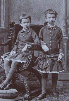 Princess Auguste and her sister Princess Elisabeth, daughters of Archduchess Gisela and Prince Leopold of Bavaria.