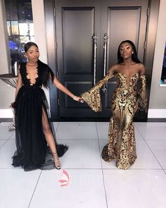 Gold Sequins Off-the-shoulder Puffy Long Sleeve Floor Length Mermaid Prom  Dress 8b235eb71314