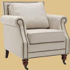 Amazon.com - Safavieh Mercer Collection Ellen Linen Club Chair, Light Grey - Club Chairs For Living Room  330