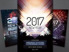 New Year Flyer Bundle vol.02 by styleWish