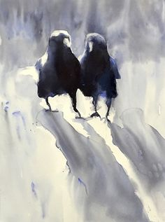 Morning Crows by Sarah Yeoman More