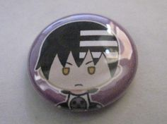 Soul Eater Death The Kid Anime Button *FREE SHIPPING*